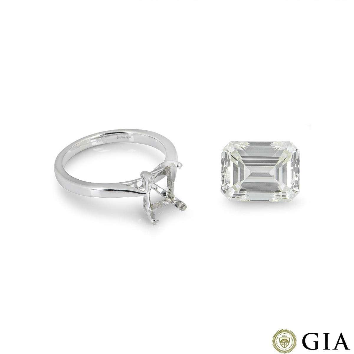 Emerald Cut Diamond 8.02ct O-P/VS2